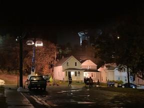 There was lots of action and some extra lighting at the corner of Mountain Street and St. Joseph Street, near the Louis Street Tot Lot, on Wednesday night, as filming for the Resident Evil reboot began in earnest. Jim Moodie/Sudbury Star