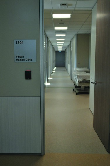 The Vulcan Medical Clinic has a much larger space now, in the expansion to the Vulcan Community Health Centre.