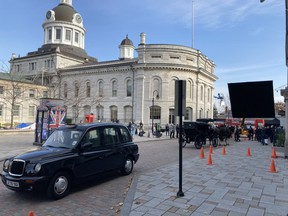 Last week's filming of Netflix series Locke & Key around City Hall brought $150,000 to the city. (Peter Hendra/The Whig-Standard)