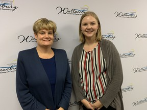 Jill Misselbrook (left), executive director of the Wallaceburg and District Chamber of Commerce, and Megan Siddal, the Chamber's administrative assistant and event planner. Jake Romphf