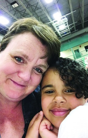 Jennifer and Neema Lyimo (pictured) are raising money for the Leduc & District Food Bank with the plan to shave their heads if they meet their fundraising goal. (Supplied)