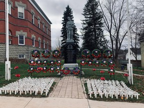 The cenotaph in Lucknow, on Remembrance Day, November 11. Cheryl Wallis photo