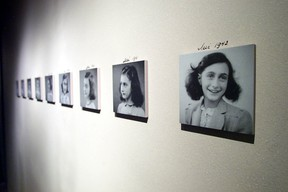 Photos ofAnneFrankare featured at an exhibit at The United States Holocaust Memorial Museum in Washington, D.C. TIM SLOAN / AFP PHOTOTIM SLOAN/AFP/Getty Images