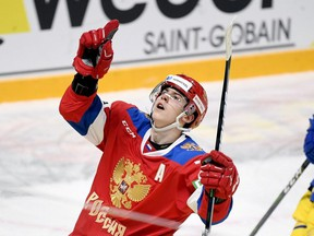 Leafs prospect Rodion Amirov became the first player in Russia's hockey history to score in each of his first three games on the international stage at the Karjala Cup. REUTERS