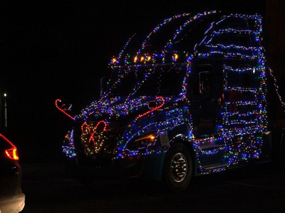 A nicely-decorated Cornwall Freightliner display. Photo on Saturday, November 28, 2020, in Cornwall, Ont. Todd Hambleton/Cornwall Standard-Freeholder/Postmedia Network