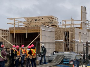 Habitat for Humanity's construction of a home in Edmonton's Hollick Kenyon community is underway. The project is being supported by Dow and the Women Build fundraiser.