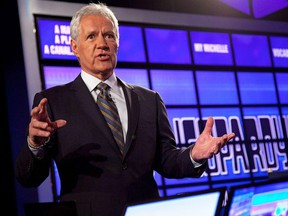 Late, great Jeopardy! host Alex Trebek. GETTY IMAGES