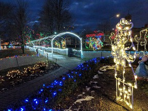 Soon Quinte area residents will be able to enjoy beautiful festive lighting displays in Trenton and Frankford, as the Frankford Fantasy of Lights begins at Frankford Tourist Park Saturday, Nov. 28, and the Doug Whitney Fantasy of Lights will open at Fraser Park in Trenton on Sunday, Nov. 29. SUBMITTED PHOTO