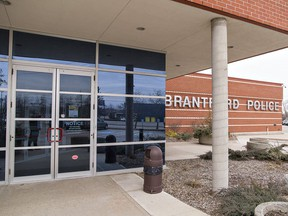 A two-storey addition is being proposed for Brantford police's Elgin Street headquarters. Expositor file photo