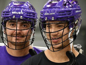 Six Nations' Randy Staats (left) and Brendan Bomberry have started Turtle Island Lacrosse, which will share Indigenous culture through the game of lacrosse with camps, clinics and instruction. I