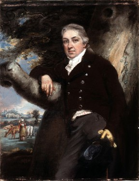 Edward Jenner, shown in an 18th century painting by John Raphael Smith, pioneered vaccination against smallpox by using a vaccine.