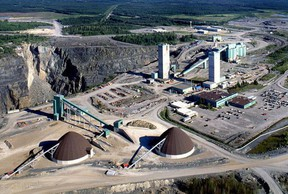 This aerial photograph shows Glencore Copper's Kidd Mine, about 22 kilometres north of the City of Timmins. The Daily Press file photo