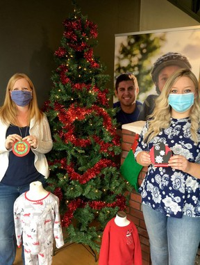 The Big Brothers Big Sisters South Huron Adopt a Child Tree has been set up at The Little Shop and A1 Chiropractic in Exeter as well as The Docks in Bayfield. The tree offers an opportunity to buy gifts for Big Brothers Big Sisters families as well as families in need in the community. Those interested can take an ornament from the tree and buy a gift for the child represented on the ornament. Stocking stuffers are also being collected at The Dollar Tree in Exeter. Pictured are Big Brothers Big Sisters South Huron executive director Amy Wilhelm, left, and mentoring co-ordinator Nicole Millar. Handout