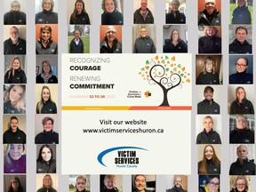Victim Services Huron is recognizing its community volunteers during National Victims & Survivors of Crime Week. Handout