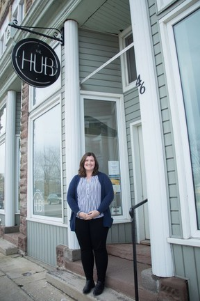 Lauren Eby, Business Development Coordinator at The Hub in downtown Ripley. Hannah Dickie photo