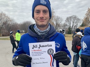 Mitchell's Zach McPhee, running for Pratt Community College, finished 12th at the National Junior College Athletic Association's Division 1 cross-country nationals this month, then followed that up a few days later with a ninth-place finish in the NJCAA national half marathon. (Submitted photo)