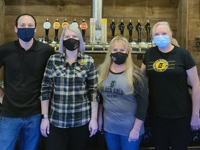 From left are Black Gold Brewery co-owners Brent Gauthier, Tara Meharg, Robyn Brocklehurst and Carolyn Laton. (Handout)