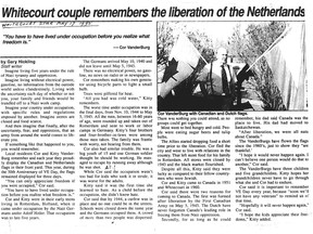This story was published in the Whitecourt Star in 1995.