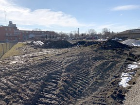 """Construction of a new powerplant is underway at the Chatham-Kent Health Alliance's Wallaceburg site. The hospital says the new plant signals its """"commitment"""" to continue delivering health care services to the community and will allow for future development. Jake Romphf/Courier Press"""