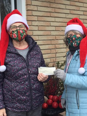 Shirley Purdie and Ginny Ross recently donated another $770 to Huron Shores Hospice, from the sales of their face-masks. SUBMITTED