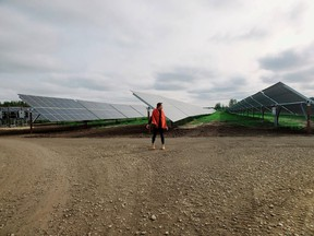 Maskwacis Cree Nation is celebrating the construction of the largest on-reserve solar farm in Canada. (Supplied)