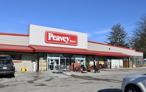 TSC Store locations across Ontario are being rebranded to Peavey Mart to match the name of the parent company, Peavey Industries LP. The new signage is already in place at the Simcoe location. (ASHLEY TAYLOR)