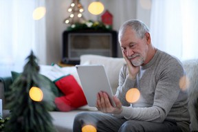 One thing you can do this holiday season to spread cheer is to help an older relative navigate new technology. Once connected, they can join you for a digital holiday meal or you can bake or do crafts together over video chat. Photo Supplied