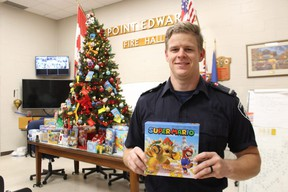 Point Edward firefighter Chris Reddy is leading a holiday toy drive for young patients at Bluewater Health.
