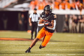 Sherwood speedster Chuba Hubbard has played his last game of NCAA football and will enter the 2021 NFL Draft. Photo Supplied