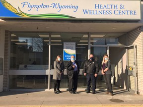 The Rural Lambton COVID Testing Centre will be moving to Plympton-Wyoming's new Health and Wellness Center on 596 Broadway St. in Wyoming. Handout/Sarnia This Week