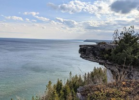 A photo taken at the Cape Chin property purchased by the Bruce Trail Conservancy.
