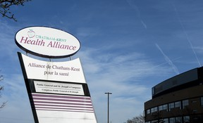 The Chatham site of the Chatham-Kent Health Alliance is shown Nov. 19, 2020. (Tom Morrison/Chatham This Week)