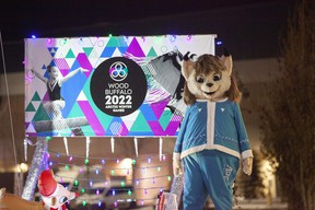 Nitotem the Lynx, mascot of the 2022 Arctic Winter Games, at the Santa Claus Parade on Saturday, December 5, 2020. Supplied Image/Robert Murray