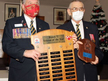 Ray St. Louis was named the Veteran of the Year at the annual honours and awards ceremony at the Pembroke Legion Nov. 28. He received the award from branch president Stan Halliday.