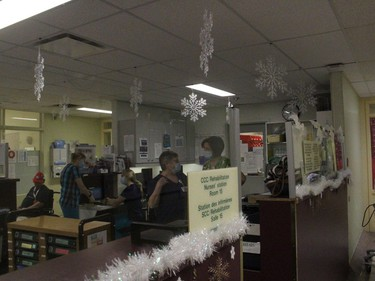Decorations at the nursing station area. Photo on Tuesday, December 22, 2020, in Alexandria, Ont. Todd Hambleton/Cornwall Standard-Freeholder/Postmedia Network