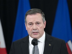 Premier Jason Kenney in Edmonton on Dec. 7, 2020.. Kenney saysAlbertais in for a tough budget on Thursday after a year of COVID-19 emergency spending, even as oil prices begin to rebound.