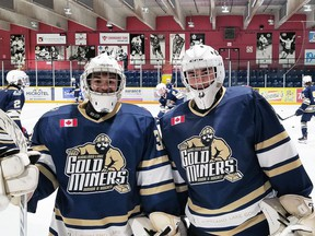The KL  goaltending brother combo of Kohl and Zach Reddy combined to stop all 29 shots they faced to backstop the Miners  to a 5-0 shutout victory over the Cochrane Crunch Friday at The Joe.