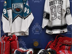 Brantford police said Tuesday they have laid charges after the theft of  Wayne Gretzky sports memorabilia from the home of Walter Gretzky. Submitted