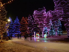 Skaters brave cold temperatures while enjoying the Christmas lights at Central Park in Spruce Grove. The holiday is minimized this year and this is how it should be going forward. File photo