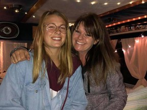 Chryse Nadeau is pictured with her mother, Kim Penton, before travelling to British Columbia this fall. Nadeau died on New Year's Day in Laurier Township while winter camping. Ontario Provincial Police are still investigating. Supplied