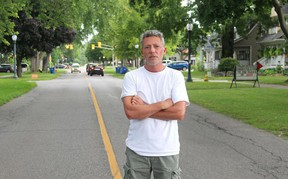 Coun. Michael Bondy at Victoria Street in Chatham, in a file photo from 2020. Ellwood Shreve/Postmedia Network
