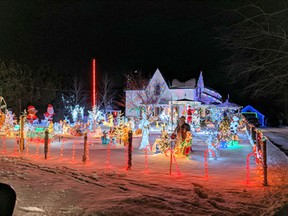 Debra Colibaba of Waterford is the first-place winner of the Light Up the County competition run by the Simcoe Christmas Panorama. Submitted