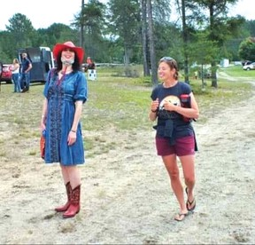 Photo supplied Elizabeth Cassidy and Stacey Wagler enjoy some fun at a horse show in Massey last summer.