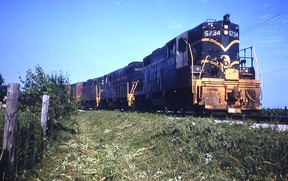 """This photo (not from Port Lambton) gives an idea of the type of terrain that Dan Brush and Tommy Thompson leapt onto when they arrived at their Port Lambton """"train station."""" Submitted/Dan Brush"""