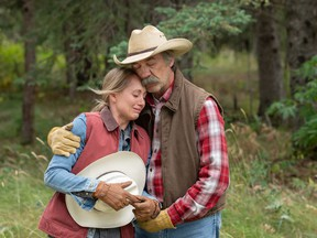 Amber Marshall and Shaun Johnston in a scene from Heartland. (Photo by Michelle Faye Fraser)