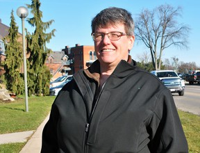 Marianne Willson, president of the Chatham-Kent Gay Pride Association, is shown in downtown Chatham in December 2017. (Tom Morrison/Chatham This Week)