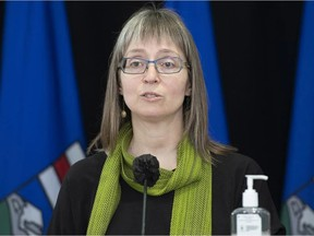 Alberta's chief medical officer of health Dr. Deena Hinshaw provided an update on COVID-19 on Monday, Jan. 28, 2021, and the ongoing work to protect public health. PHOTO BY CHRIS SCHWARZ / Government of Alberta