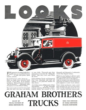 A Graham Brothers truck ad from the late 1920s. Graham Brothers was started by three brothers from Indiana. The trio and their company became very successful and wealthy. One of the brothers, Ray, died in Chatham in August 1932. Handout