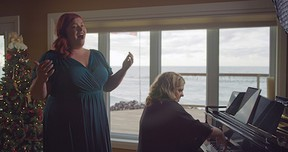 Goderich-born soprano Christina Bell and Wingham pianist Andrea Grant perform holiday favourites in a private home near St. Joseph in the holiday program. Handout