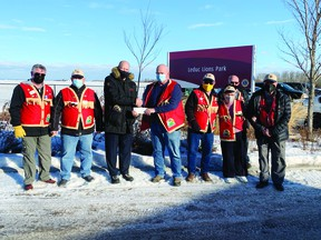 The Leduc Lions Club contributed $20,000 to improvements and renovations at Lions Park. (Supplied)